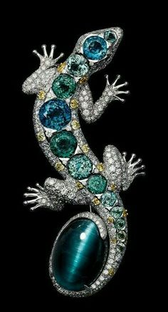 Doble Cristal CZ Piedras Preciosas Lagarto Plateado Blck reptil Collar Aretes Set Joya