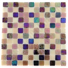Daltile Regent Square Glass - RS15 Nile Blend - Iridescent Glass Tile Mosaic