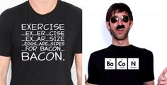 Funny Bacon Themed T-Shirts * 3 Choices *