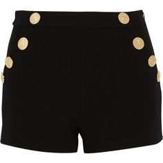 Boutique Moschino Wool-crepe shorts found on Polyvore