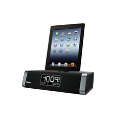 Dual charging stereo FM clock radio with lightning dock and USB charge/play for iPad/iPhone/iPod. Wake to iPad/iPhone/iPod, FM radio, playlists or buzzer. Flexible lightning dock plays and charges iPa. Radio Alarm Clock, Best Iphone, Docking Station, Lightning, Remote, Buzzer, Amazon, Tecnologia, Science