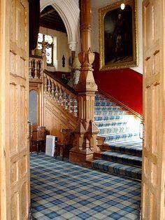 Grand Tartan Stairs at Invercauld Castle | Adrienne Reid | Flickr