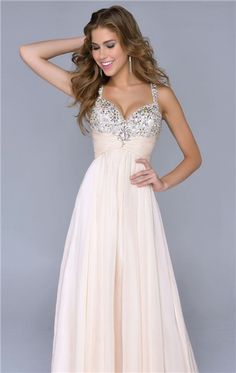 pink prom gown