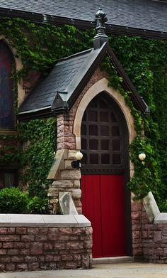 Iowa Church Door