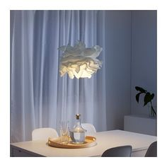 IKEA - KRUSNING, Pendant lamp shade, Create your own personalized pendant lamp by combining the shade with your choice of cord set. Small Lamp Shades, Hanging Lamp Shade, Ceiling Lamp Shades, Led Ceiling Lights, Krusning Ikea, Pendant Lamp, Pendant Lighting, At Home Furniture Store, Tiffany Lamps