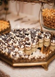 These mini chocolate desserts look delicious! Photo by Ely Fair Photography. #wedding #chocolate #sweettreats #mini #dessert