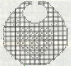 Crochet everything. Crochet Shawl Diagram, Crochet Chart, Filet Crochet, Crochet Doilies, Crochet Baby Bibs, Crochet Baby Clothes, Crochet For Kids, Baby Knitting, Baby Patterns