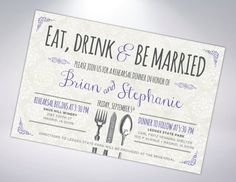 Digital File Option: Rehearsal Dinner by TheDesignBrewery on Etsy