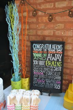 Graduation Party oh the places you'll go tablescape