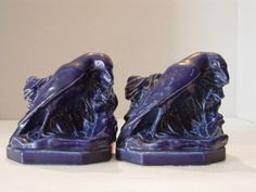 Rookwood Pottery Rook Bookends 1925