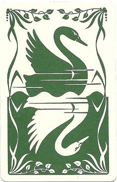 vintage playing card swans by Millie Motts, via Flickr