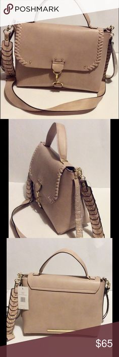 "Steve Madden Top Handle Cross-body Bag Blush NWT Steve Madden Top Handle Cross-body Bag Blush  ~ Blush with Black Trim / Gold-tone hardware  ~ Handle strap/ removable Crossbody stap 24.5"" drop ~ 2 inside slip pockets, 1 inside zipper pocket  ~ Flap closure  ~ 13"" x 9.3/4"" x 5.5""   New with tags Steve Madden Bags"