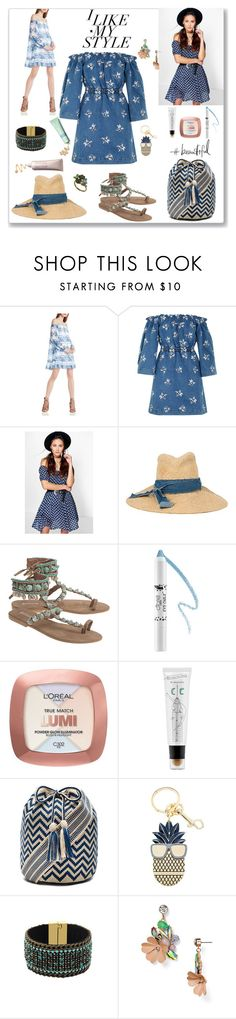 """Denim Dress"" by ludmyla-stoyan on Polyvore featuring BCBGeneration, House of Holland, Boohoo, Lola, Ciaté, L'Oréal Paris, too cool for school, Guanábana, STELLA McCARTNEY and BaubleBar"