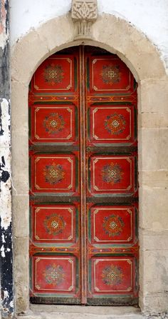 Love this door! I\'d love to cut it out and prop it up inside! Rabat, Morocco