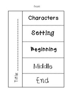 Story Map Foldables- includes 4 different versions. Great for literacy centers and reader& notebooks! Reading Strategies, Reading Skills, Reading Comprehension, Reading Centers, Literacy Centers, Comprehension Strategies, Reading Response, Kindergarten Reading, Teaching Reading