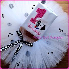 A personal favorite from my Etsy shop https://www.etsy.com/listing/247450682/dalmatian-birthday-tutu-set-tutu-ourfit