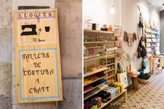 Costuretas. Shop Atelier C/Verdi, 81 Barri de Gracia Barcelona. Yarn and haberdeshary supplies. Also atelier