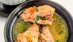 Jamaican chicken soup with dumplings - The Pretend Chef Jamaican Chicken Soup, Chicken Dumpling Soup, Jamaican Cuisine, Jamaican Recipes, Stuffed Pepper Soup, Stuffed Peppers, Easy Soups To Make, Nigeria Food, Coconut Curry Sauce