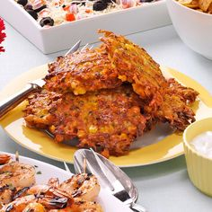Garden Potato Pancakes Recipe -My family eats these all the time, and the pancakes don't even taste like they're full of fresh veggies. We especially like the cheese mixed in. —Peggy Roos, Minneapolis, Minnesota