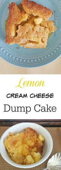 Lemon Cream Cheese Dump Cake. This is a delicious easy to make lemon cream cheese dump cake. You may even have all the ingredients in yourhouse! Pin for Later!
