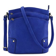 New Trending Make Up Bags: Triple Zip Pocket Large Crossbody Bag (Royal Blue). Triple Zip Pocket Large Crossbody Bag (Royal Blue)   Special Offer: $23.50      422 Reviews This multi pocket large size crossbody bag makes easy to organize your everyday items.10.5″ (W) x 11″ (H) x 3″ (D)Zipper closureAdjustable shoulder strap with 24″ dropFaux...