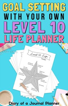 Get your entire life organized and on track for success with these level 10 life planner printable pages! #planneraddict #lifeplanner #lifehacks #goalsetting #manifesting Life Journal, Bullet Journal, Day Planners, Personal Planners, Printable Planner, Printables, Sticker Organization, Planner Sheets, Perfect Planner