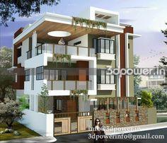 3D front modern  elevation