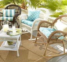 Bring classic style to outdoor furniture with our Cabana Cushion Collection