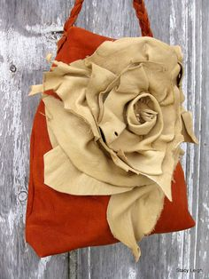 Rustic Rose Elk Leather Bag RESERVED for Nadia by Stacy Leigh