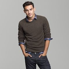 sweater look:  I wonder if my man would wear something like this.  I like the look!