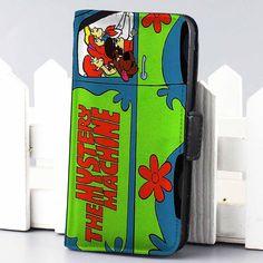 mystery machine van scooby doo cartoon wallet case for iphone 4,4s,5,5s,5c,6 and samsung galaxy s3,s4,s5 - LSNCONECALL.COM