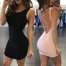 Sexy Womens Summer Bandage Bodycon Backless Evening Party Cocktail Mini Dress