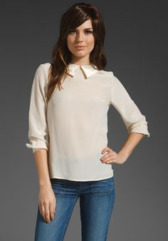 MARC BY MARC JACOBS  Miro Collared Top   $278.00