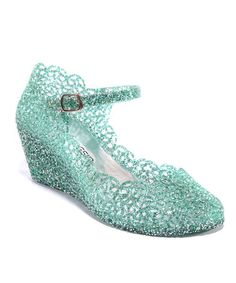 Mint Alesha Wedge by Kiss & Tell.   Jelly shoes remind me of being a kid!
