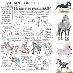 ART for KIDS 'mighty fine art academy for children', Wellington, New Zealand. Unicorn Horse, Cute Unicorn, Art Lessons For Kids, Art For Kids, School Holiday Programs, Programming For Kids, Art Academy, Art Programs, School Holidays