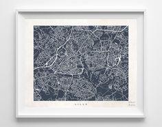 Lille Street Map Print