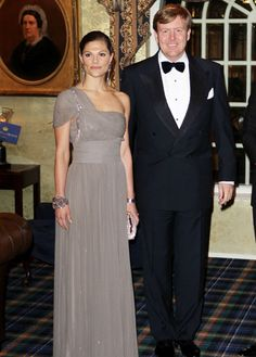 Crown Princess Victoria of Sweden with Crown Prince Willem-Alexander of the Netherlands