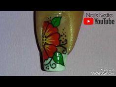Uña decorada con mariquita y flor - YouTube Manicure Y Pedicure, Toe Nails, Shot Glass, Youtube, Tableware, Gel Nail, Nail Ideas, Shapes, Beauty