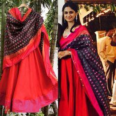 Red Kurtha Pochampally