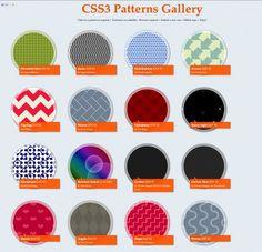 Patterns using css3