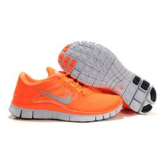 new arrival 8095f 1ffe4 Mens Nike Free Run 3 Vivid Orange Reflect Silver Pure Platinum Volt Shoes  cheap nike shoes