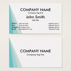 #template - #Shades of Blue White Plain Business Card