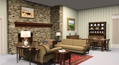 The Andy Griffith Show living room. I do renderings of iconic TV homes, give video walk-through tours and then remodel them.