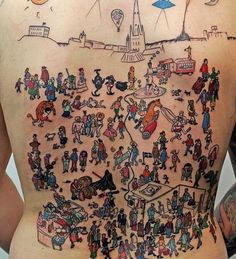 funny where's wally tattoo