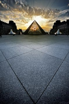 The Louvre Pyramid, Paris, France