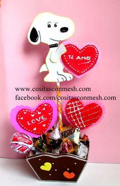 Si este San Valentin quieres tener un detalle con esa persona especial, ¡mira esta bonita forma de regalarle unos dulces!