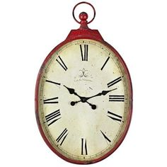 Antiqued Red Wall Clock$99