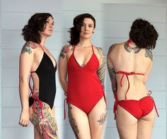 Custom Reversible One- Piece Monokini Swimsuit Bathing Suit / Straight Sides / Tie, Scrunch Butt / Any Size / Any Color / Made to Measure