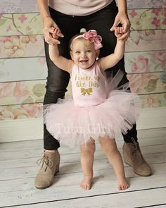 Baby Girl Clothes I Woke Up Like This Baby Tutu Outfit by TutuGirl