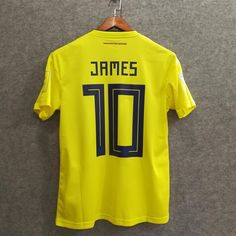 06682fa7f 2018 Men Colombia Jersey Home  10 James Jersey World Cup Jersey Fans
